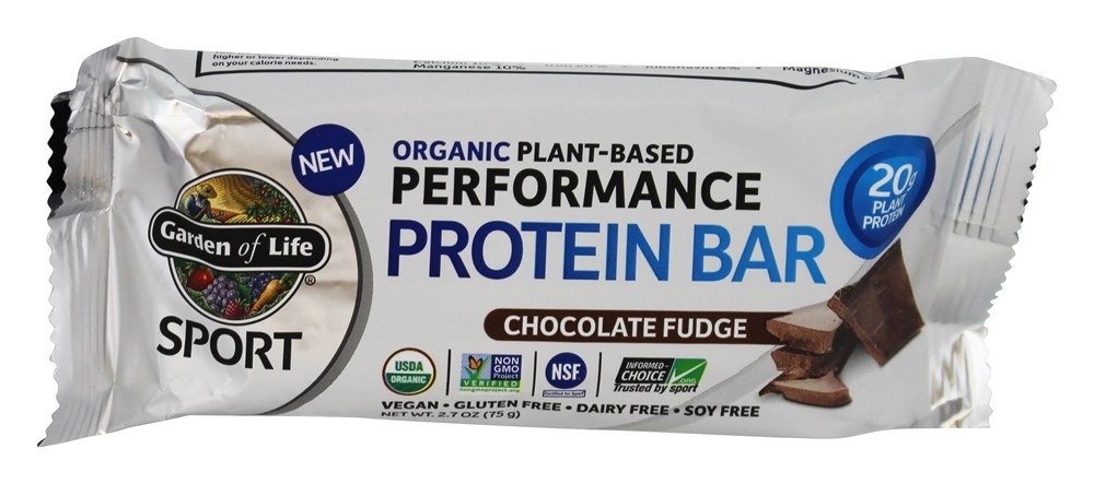Buy Garden Of Life Sport Organic Plant Based Performance Protein Bar Chocolate Fudge 2 7 Oz