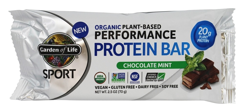 Buy Garden Of Life Sport Organic Plant Based Performance Protein Bar Chocolate Mint 2 5 Oz