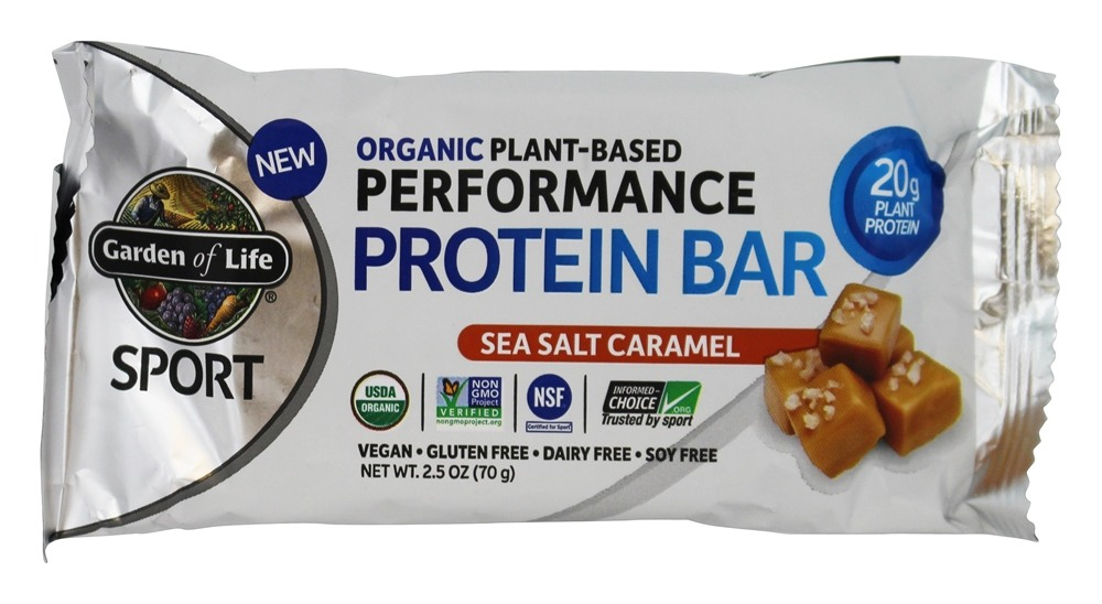 Buy Garden Of Life Sport Organic Plant Based Performance Protein Bar Sea Salt Caramel 2 5 Oz