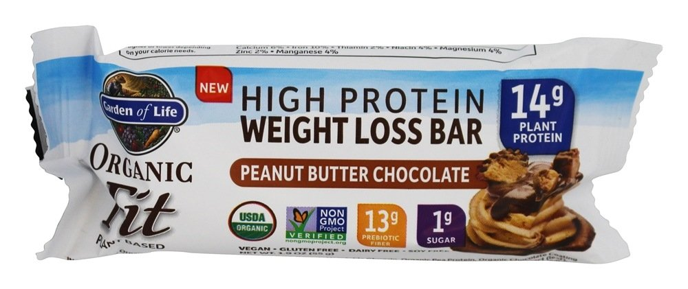 Buy Garden Of Life Organic Fit High Protein Weight Loss Bar Peanut Butter Chocolate 1 9 Oz