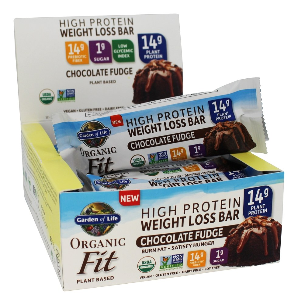 Buy Garden Of Life Organic Fit High Protein Weight Loss Bars Chocolate Fudge 12 Bars At