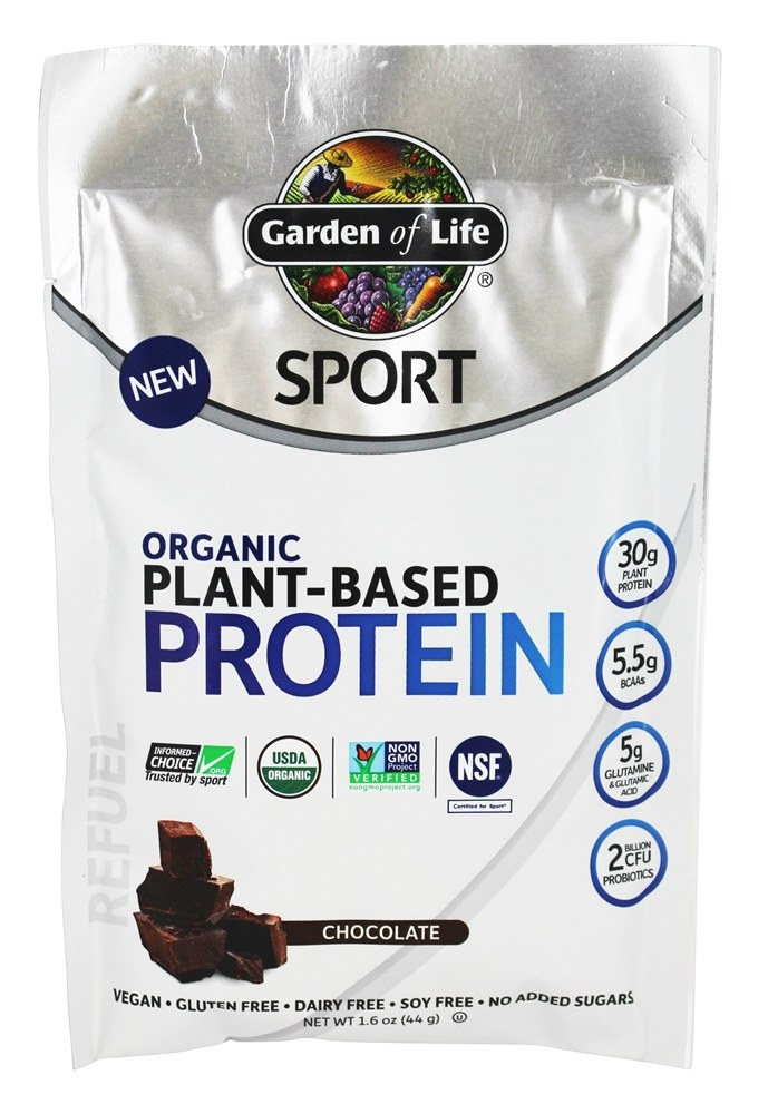 Buy Garden Of Life Sport Organic Plant Based Protein Chocolate 1 6 Oz At