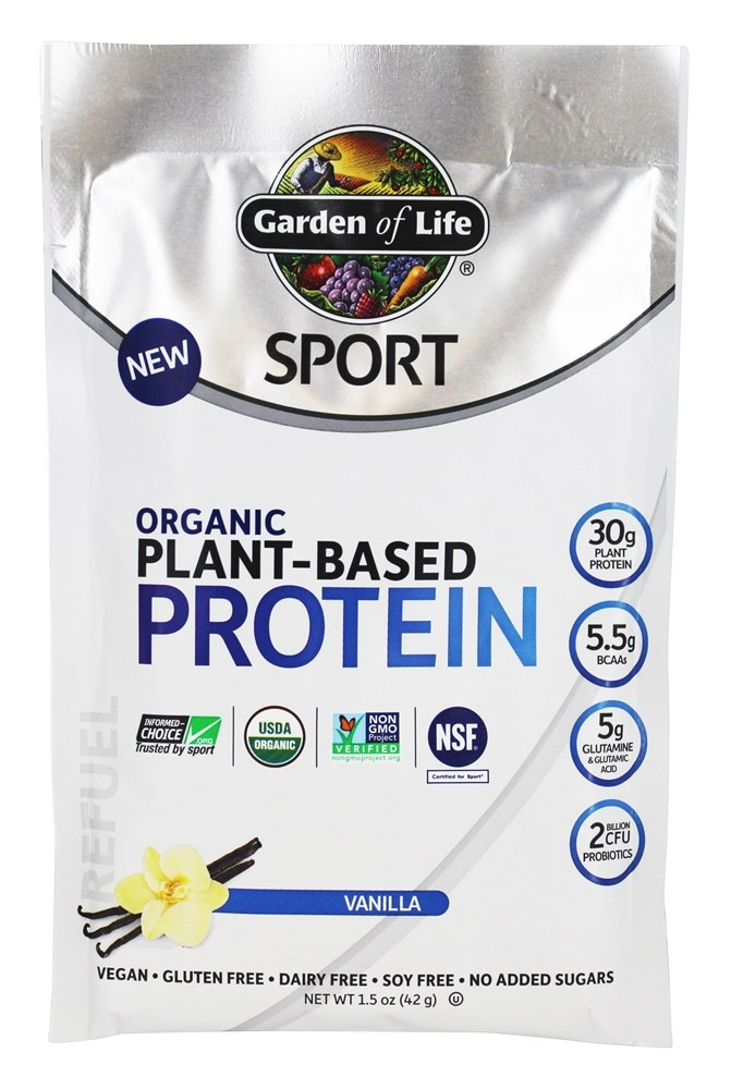 Buy Garden Of Life Sport Organic Plant Based Protein Vanilla 1 5 Oz At