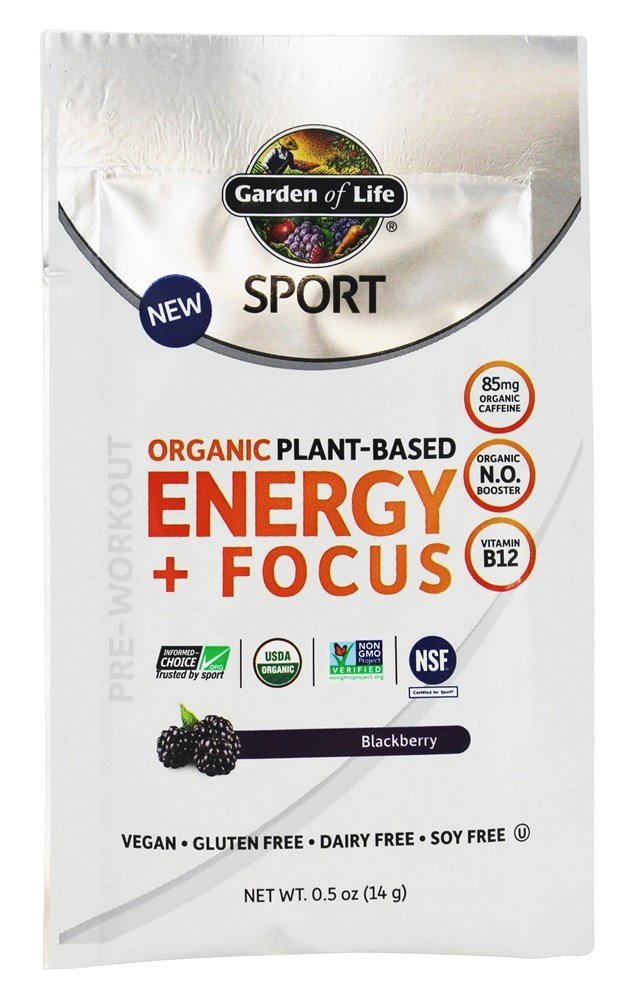 Buy garden of life sport organic plant based energy focus blackberry 0 5 oz at for Garden of life energy and focus
