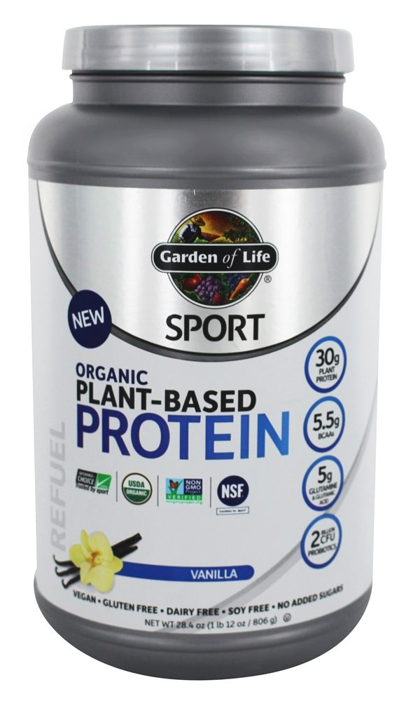 Buy Garden Of Life Sport Organic Plant Based Protein Vanilla 28 4 Oz At