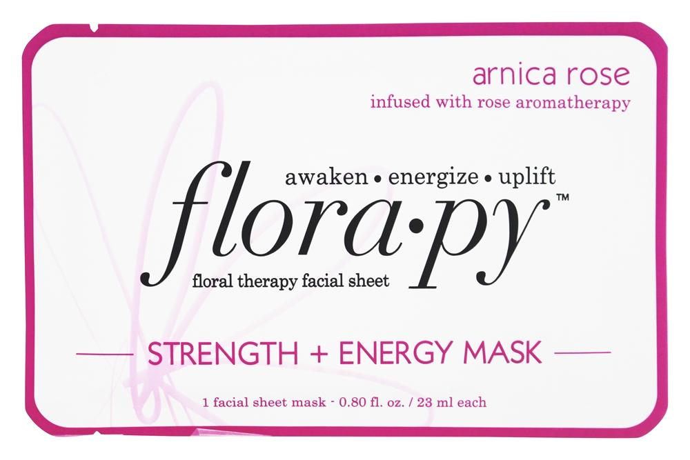 Floral Therapy Facial Sheet Strength & Energy Mask Arnica Rose - 1 Sheet(s) by Florapy (pack of 4) Aroma Purete Shine Control Oxygenating Fluid (combination & Oily Skin)  50ml/1.69oz