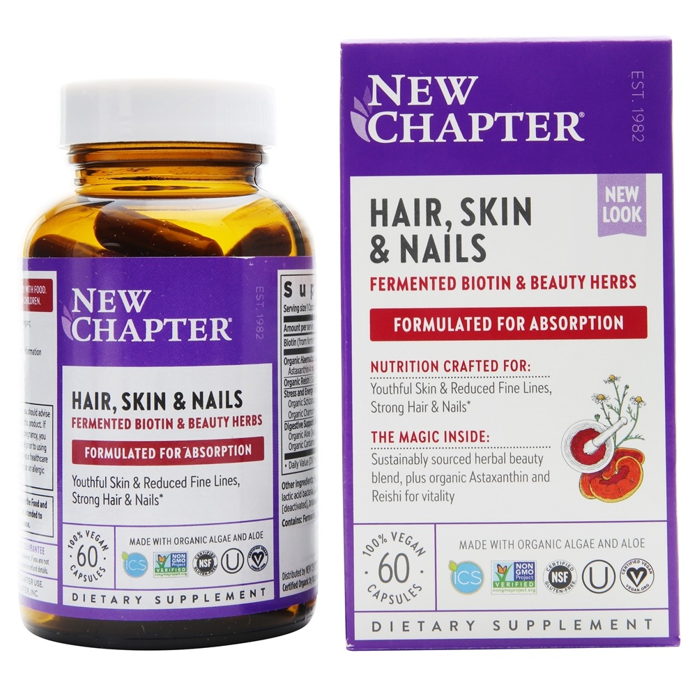 Buy New Chapter - Perfect Hair, Skin & Nails - 60 Vegetarian ...