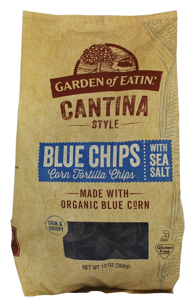 Buy Garden Of Eatin Cantina Style Corn Tortilla Chips Blue Chips With Sea Salt 13 Oz At