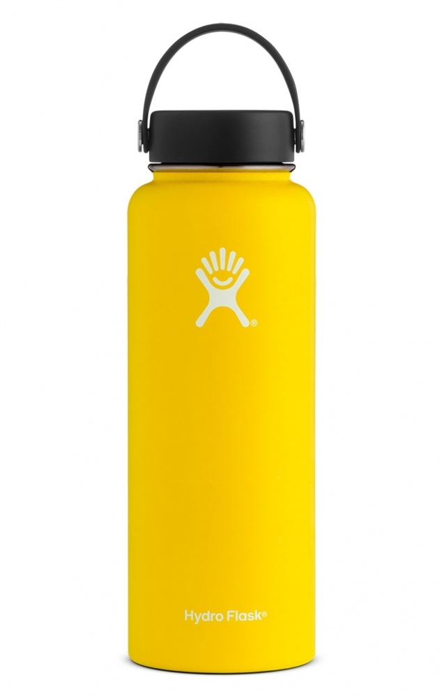Stainless Steel Water Bottle Vacuum Insulated Wide Mouth with Flex Cap  Lemon - 40 oz Hydro Flask