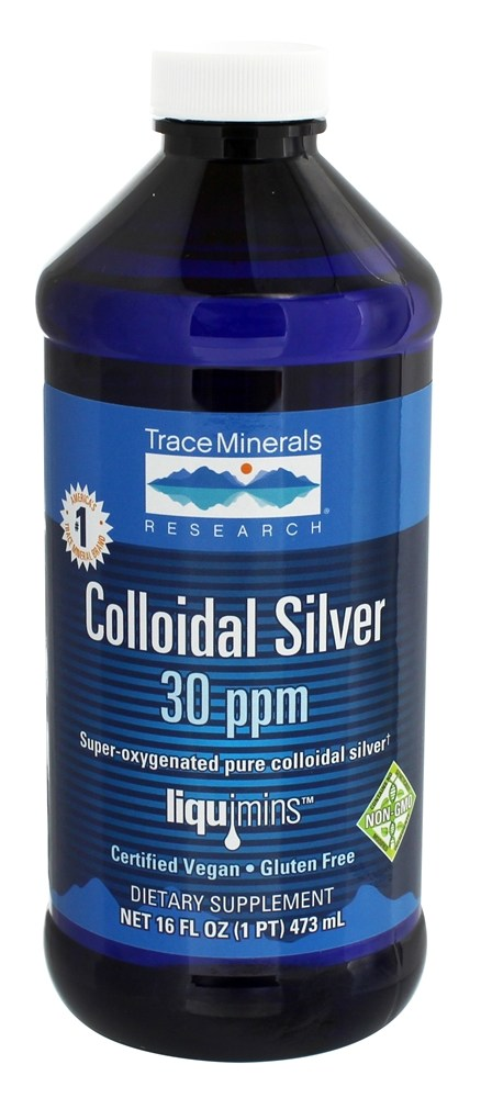 Buy Trace Minerals Research Colloidal Silver 30 Ppm 16