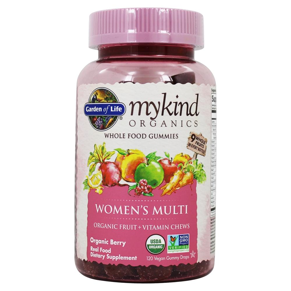 Buy Garden Of Life Mykind Organics Women 39 S Multi Whole Food Gummies Berry 120 Gummies At