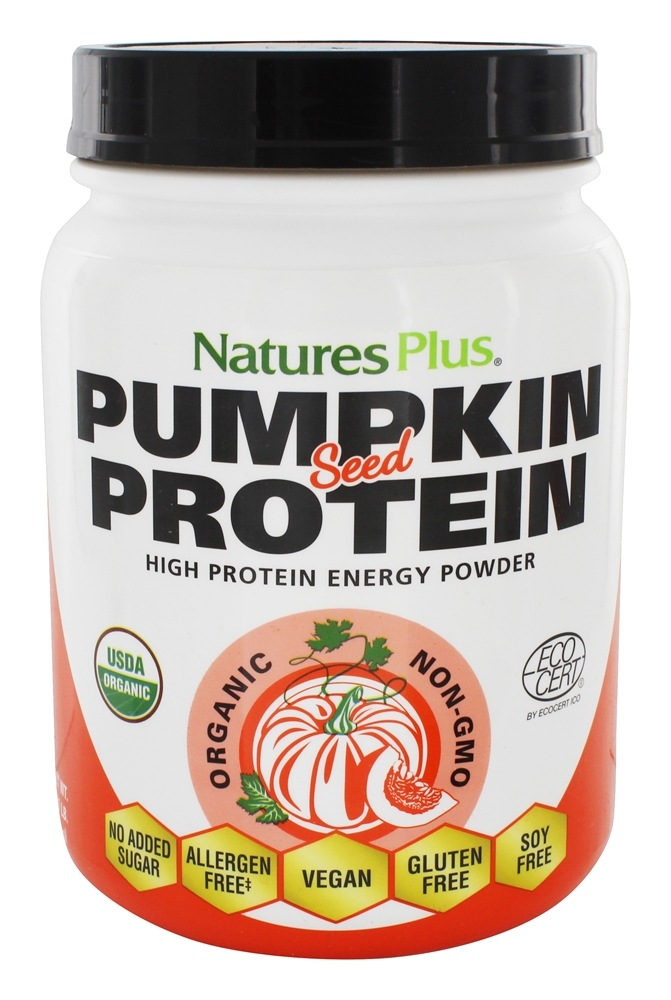 Buy Natures Plus - Organic Pumpkin Seed High Protein Energy Powder - 0.95 lbs. at LuckyVitamin.com