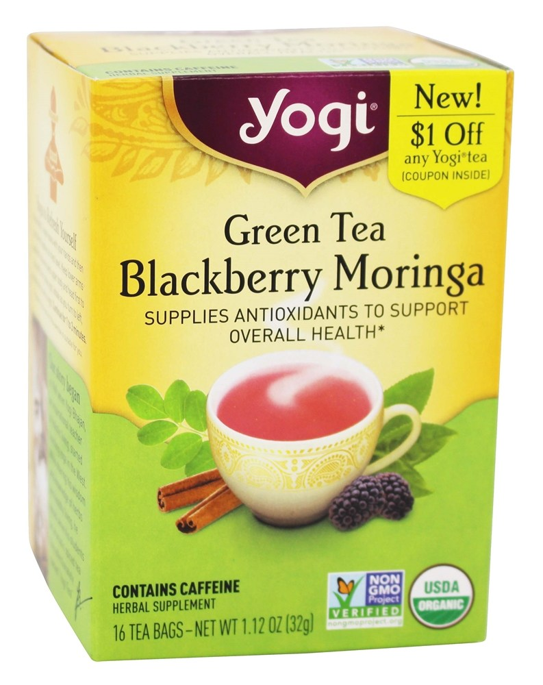 Buy Yogi Tea Organic Green Tea Blackberry Moringa 16