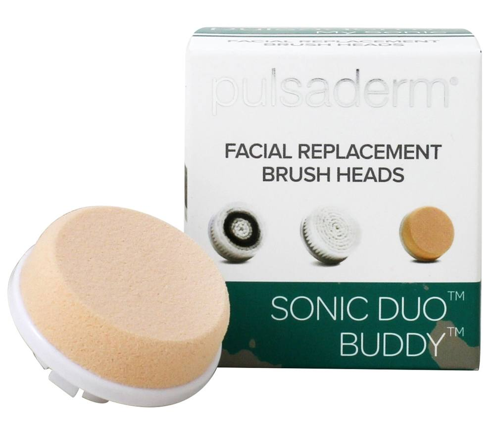 My Sonic Duo Buddy Normal Skin Facial Replacement Brush Heads - 2 Count by Pulsaderm (pack of 4) Brightening Probiotic + C Renewal Cream - 1.7 oz. by Andalou Naturals (pack of 1)