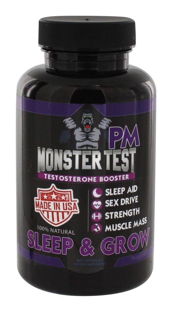 Buy Angry Supplements - Monster Test PM Testosterone Booster - 60 Capsules at LuckyVitamin.com