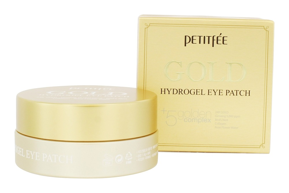 Gold Hydrogel Eye Patch Plus 5 Golden Complex by Petitfee (pack of 6) Doberyl Single Use Mineral Mud Mask Black Head Ex Pore Strip Acne Deep Cleanser Peel Off Cleansing Face Mask Nose Strip BlackHead Remover Travel Size [10 Pack]