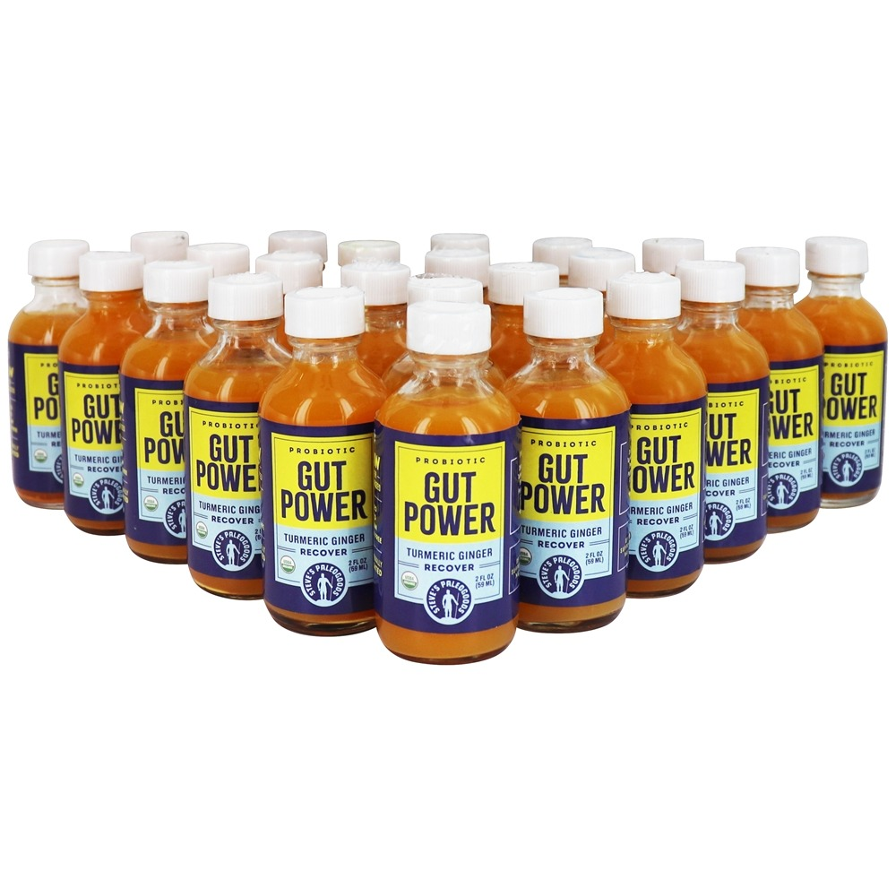 Turmeric Ginger Recover Probiotic Cultured Wellness Shot - 24 Pack 2 oz   BottlesJacob's Raw