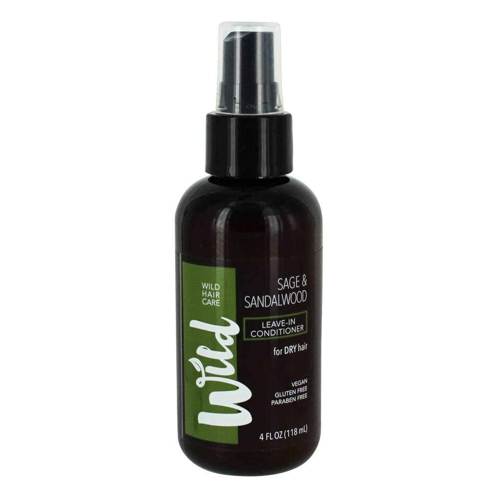 Leave In Conditioner For Dry Hair Sage Sandalwood 4 Fl Oz By Wild