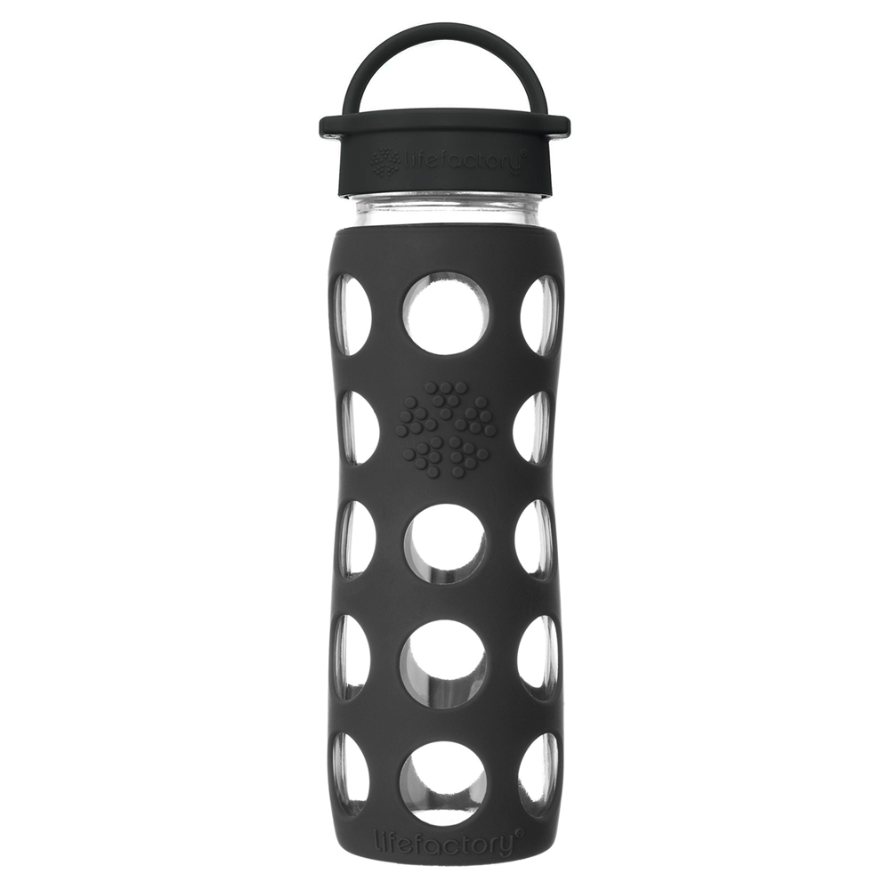 Glass Water Bottle with Classic Cap and Silicone Sleeve Core 2.0 Lifefactory
