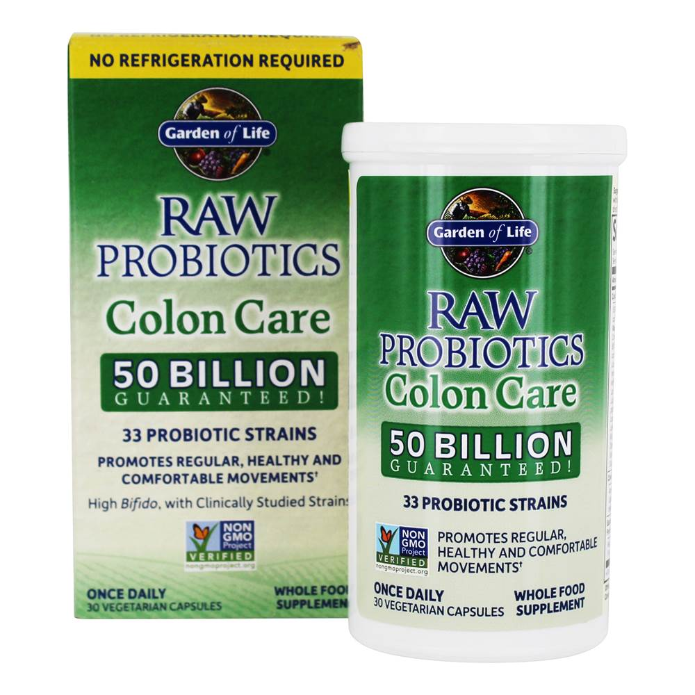Buy Garden Of Life Raw Probiotics Colon Care 50 Billion Cfu 30 Vegetarian Capsules At