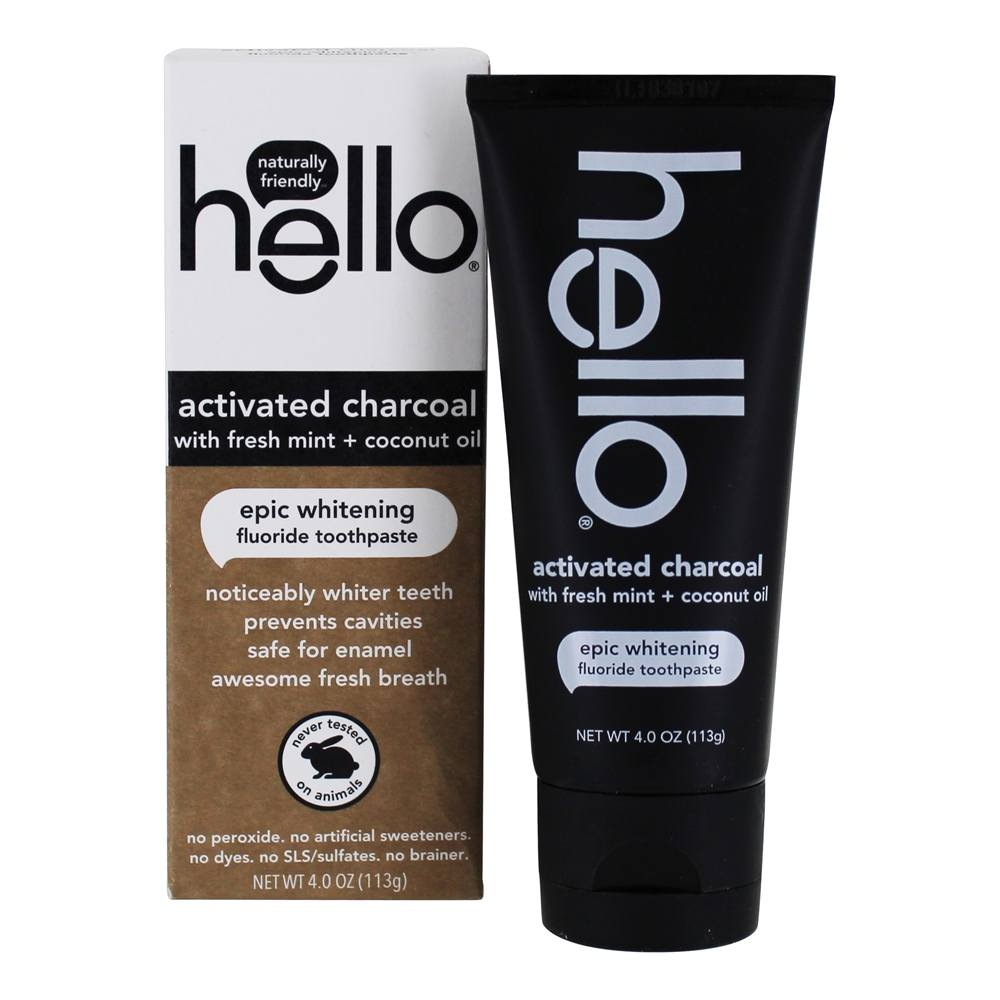 Buy Hello Products Activated Charcoal Fluoride Whitening