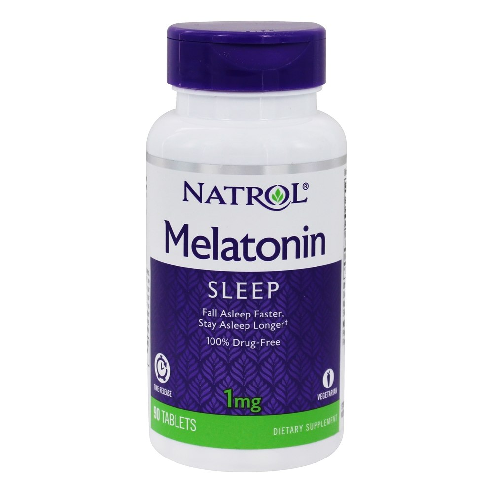 Buy Natrol - Melatonin Sleep Time Release 1 mg. - 90 Tablets at  LuckyVitamin.com