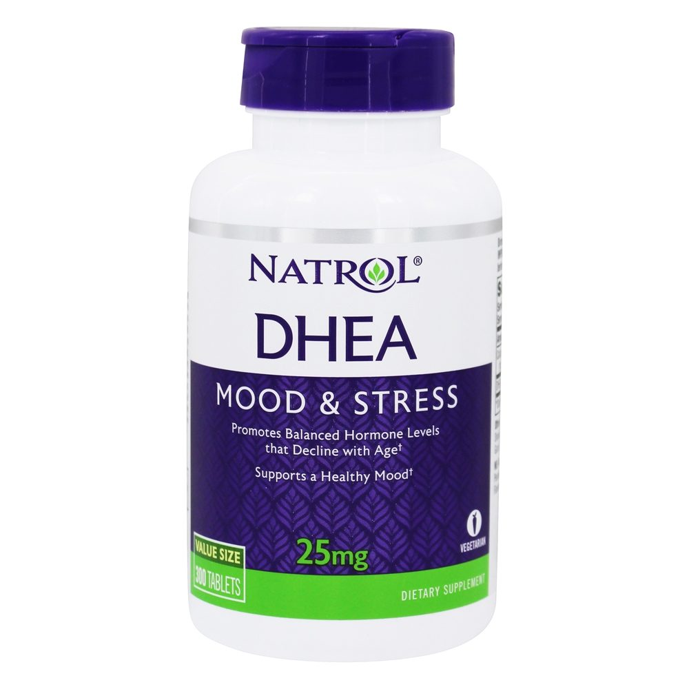 Buy Natrol - DHEA for Healthy Hormone Levels & Mood 25 mg. - 300 Tablets at LuckyVitamin.com