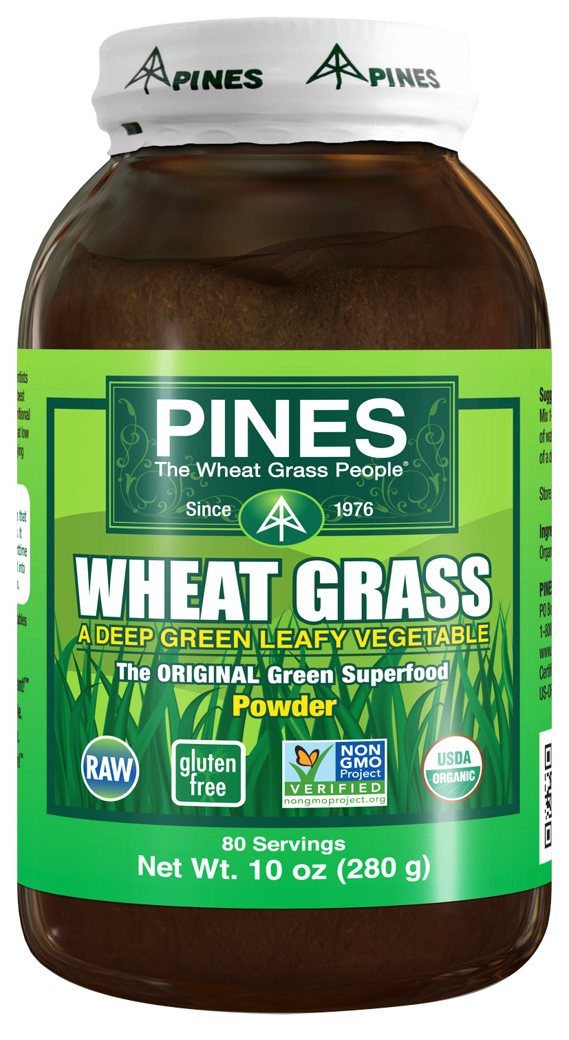 Wheat Grass Powder 100% Pure - 10 oz Pines