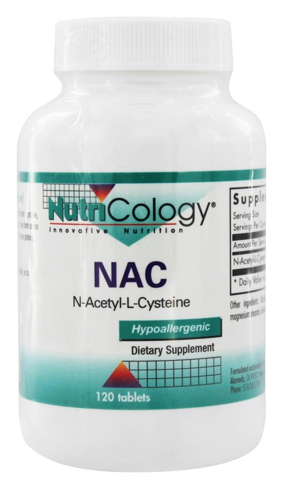 buy nutricology nac n acetyl l cysteine 120 tablets at. Black Bedroom Furniture Sets. Home Design Ideas