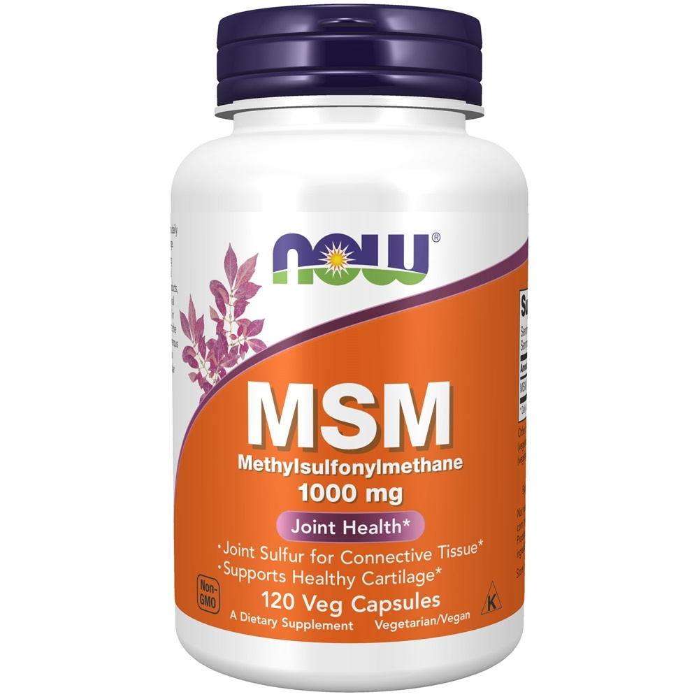Buy NOW Foods - MSM 1000 mg  - 120 Capsules at LuckyVitamin com
