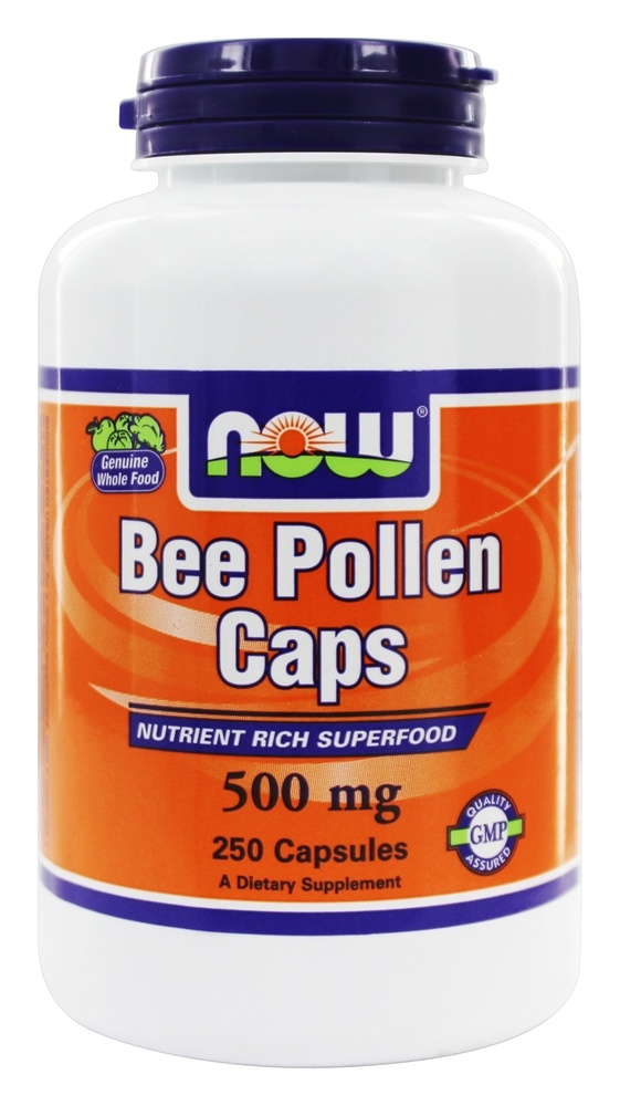 Buy NOW Foods - Bee Pollen 500 mg. - 250 Capsules at ... - photo#40