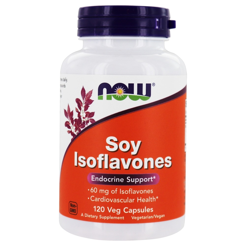 Buy Now Foods Soy Isoflavones 60 Mg 120 Vegetarian