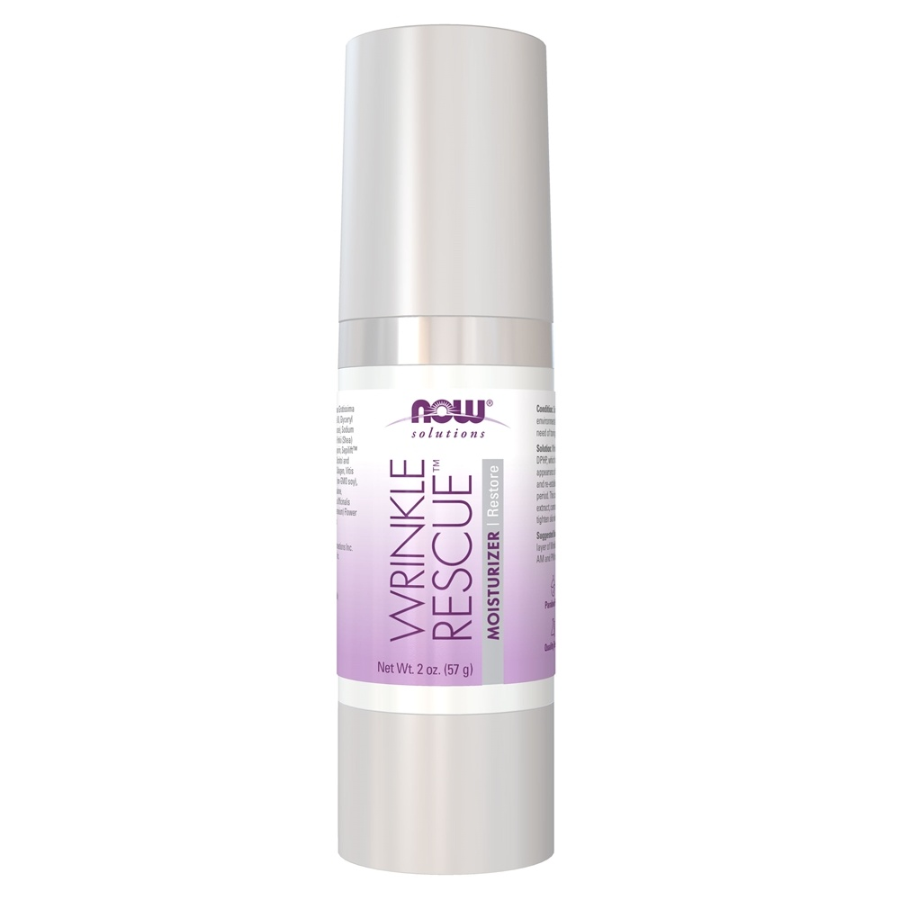 Now Foods, Solutions, Wrinkle Rescue Moisturizer, 2 oz(pack of 2) Alluxe Clinicals Wrinkle Reducing Gold Retinol Serum, 1oz / 30ml