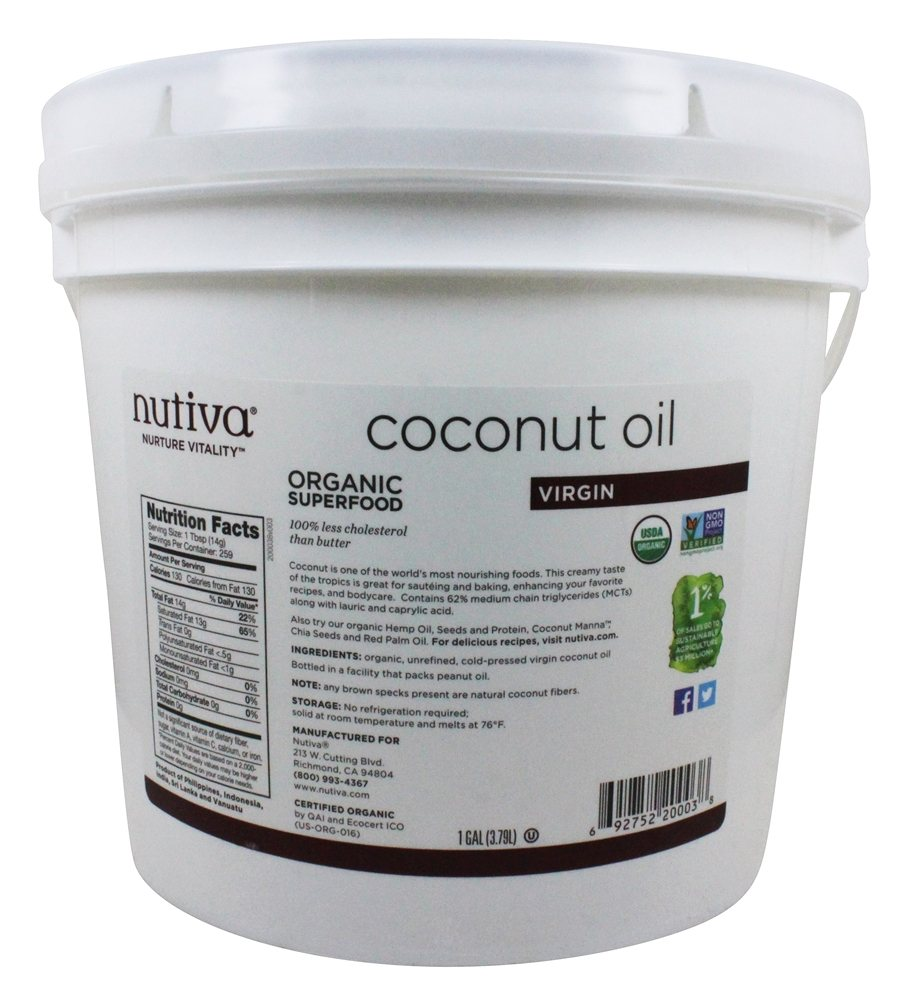 Buy Nutiva - Coconut Oil Organic Extra Virgin - 1 Gallon at