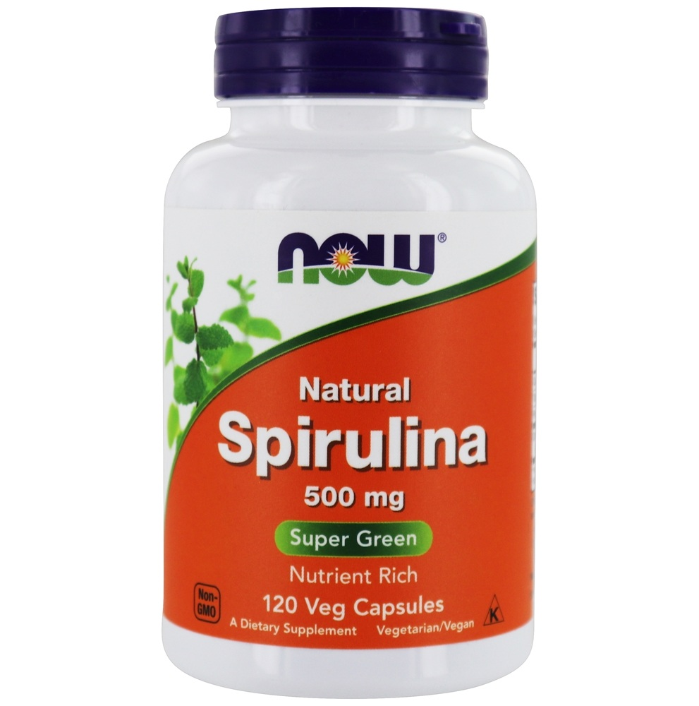 buy now foods spirulina 500 mg 120 vegetarian