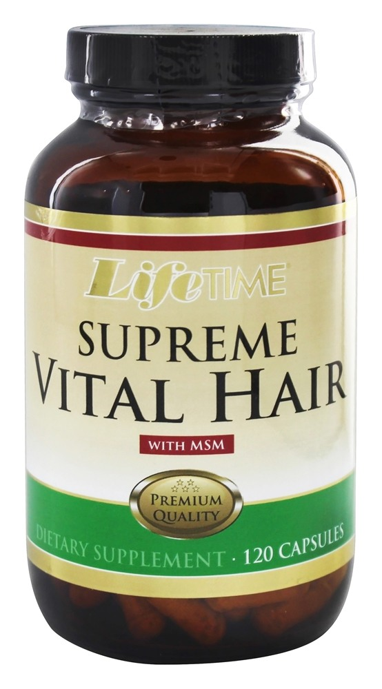 Lifetime Vitamins Supreme Vital Hair With Msm 120 Capsules At Luckyvitamin Com