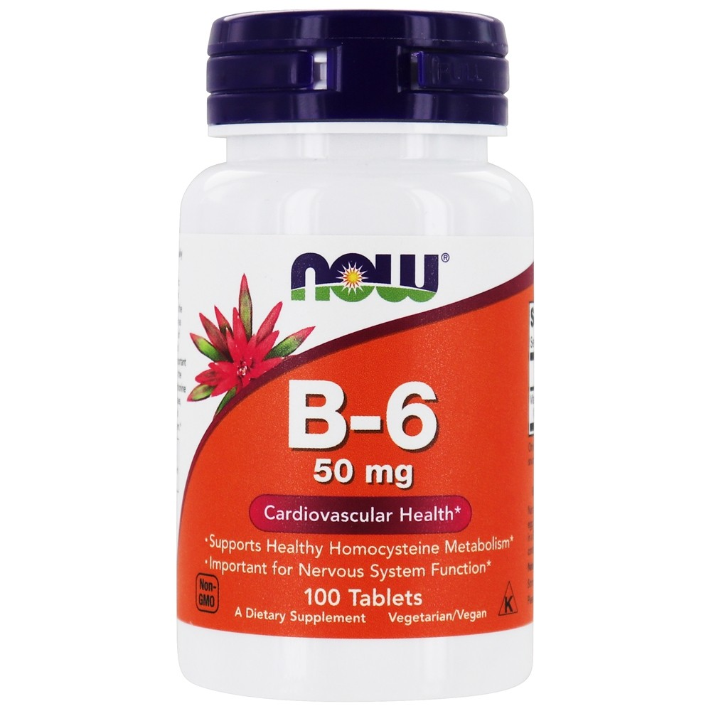 buy now foods vitamin b6 50 mg 100 tablets at
