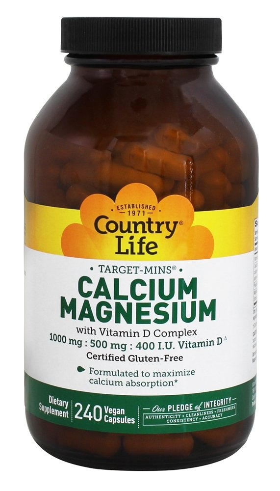 buy country life target mins calcium magnesium with vitamin d complex 240 vegetarian. Black Bedroom Furniture Sets. Home Design Ideas