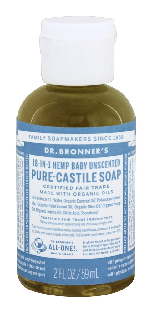 buy dr bronners magic pure castile soap organic baby mild unscented 2 oz at. Black Bedroom Furniture Sets. Home Design Ideas