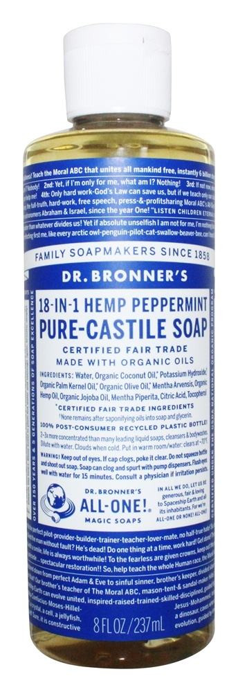 Buy Dr  Bronners - 18-in-1 Hemp Pure Castile Liquid Soap