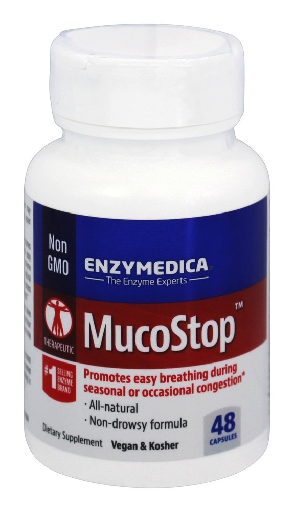 Enzymedica Mucostop: 48 Capsules At LuckyVitamin.com