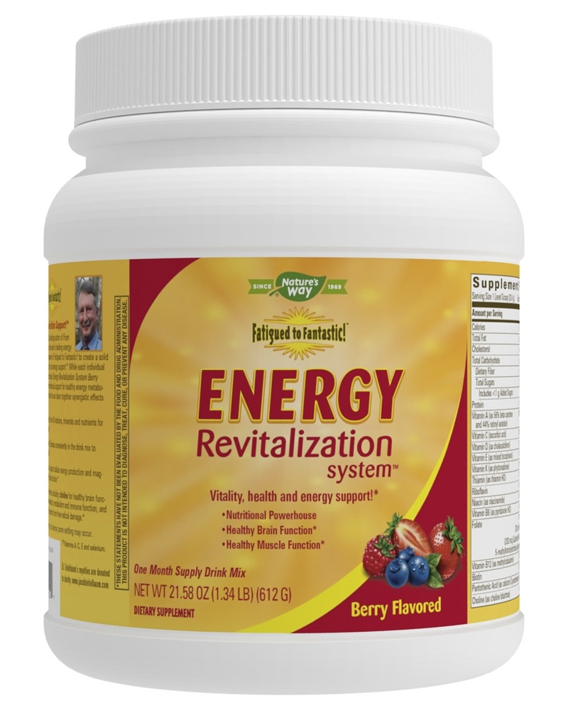 Energy revitalization system vitamin powder