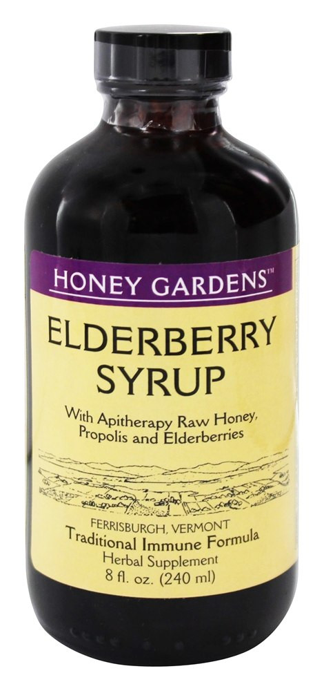 Elderberry Syrup Extract with Propolis - 8 fl  oz  by Honey Gardens Apiaries