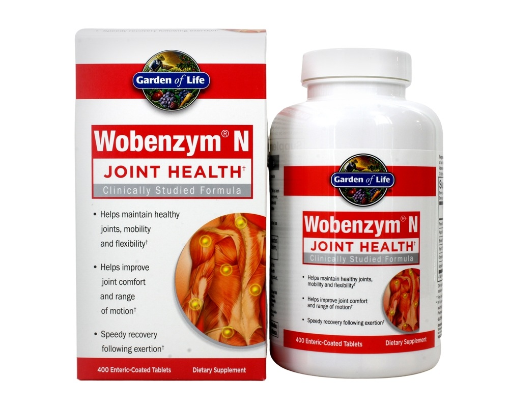 Wobenzym N Healthy Inflammation and Joint Support - 400 Enteric-Coated  Tablets (Formerly distributed by Mucos) by Garden of Life