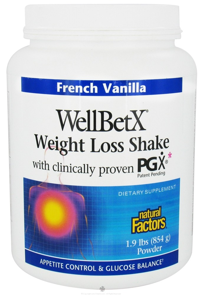 Buy Natural Factors Wellbetx Weight Loss Shake With Pgx French