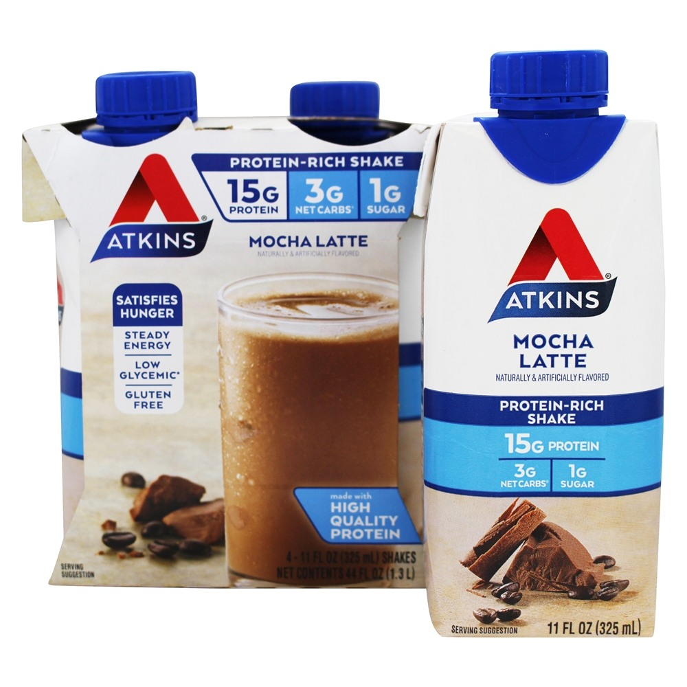Buy atkins rtd protein rich shakes mocha latte 4 pack for Atkins cuisine baking mix