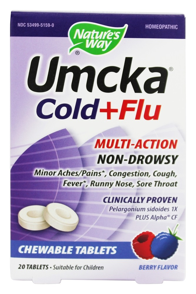 Nature S Way Umcka Cold Flu Berry  Chewable Tablets