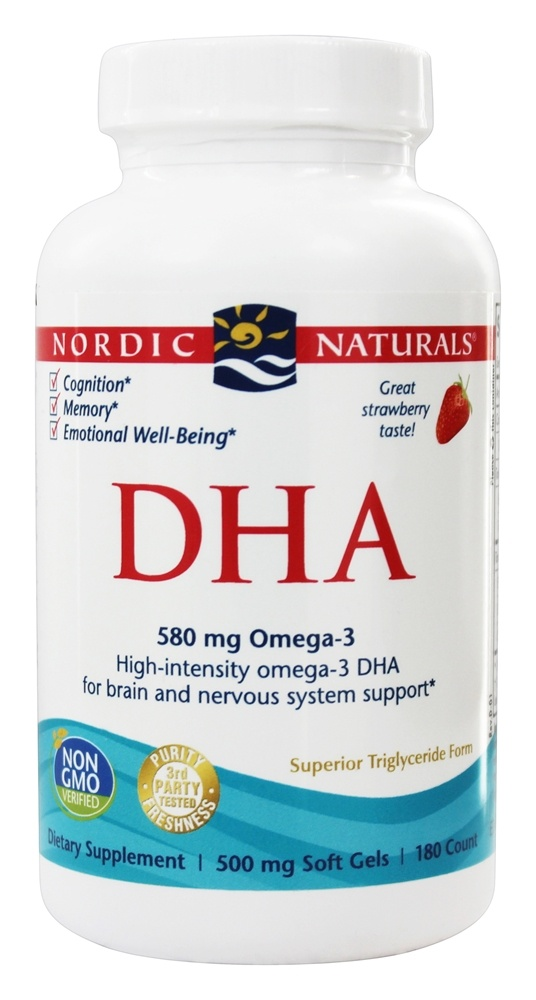 Nordic Naturals Dha From Purified Fish Oil Strawberry