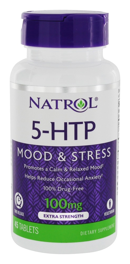 5-HTP Time Release Mood & Stress Support 100 mg. - 45 Tablets by Natrol