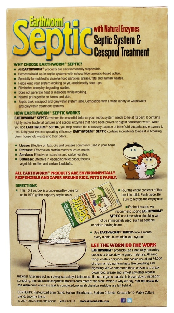 Buy Earthworm Family Safe Septic System Treatment And